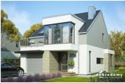 Dobre Domy - Projekt domu z balkonem i garażem