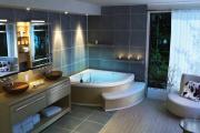 W bezpiecznej łazience należy zachować odpowiednie proporcje i odległości między poszczególnymi sprzętami (fot. Bestdecoratingideas.info)
